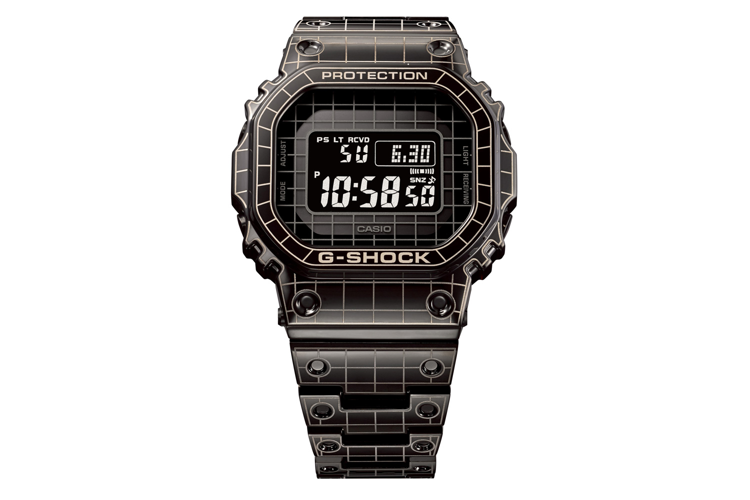 Full Metal G-SHOCK GMW-B5000CS with Grid Design