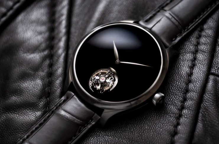 Endeavour Tourbillon Vantablack Black Hands