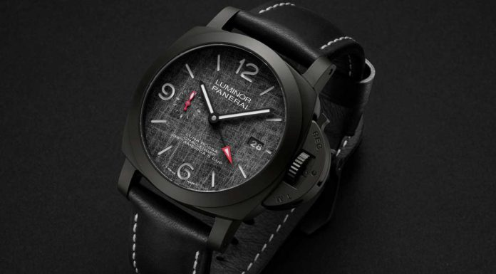 The PAM01036 Luminor Luna Rossa GMT continues Panerai's partnership with the legendary sailing team