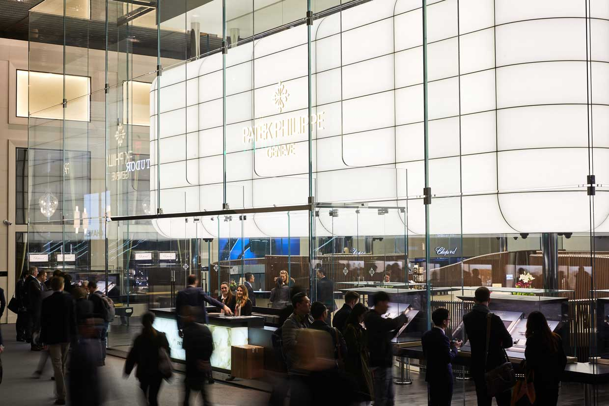 The grand Patek Philippe booth at Baselworld