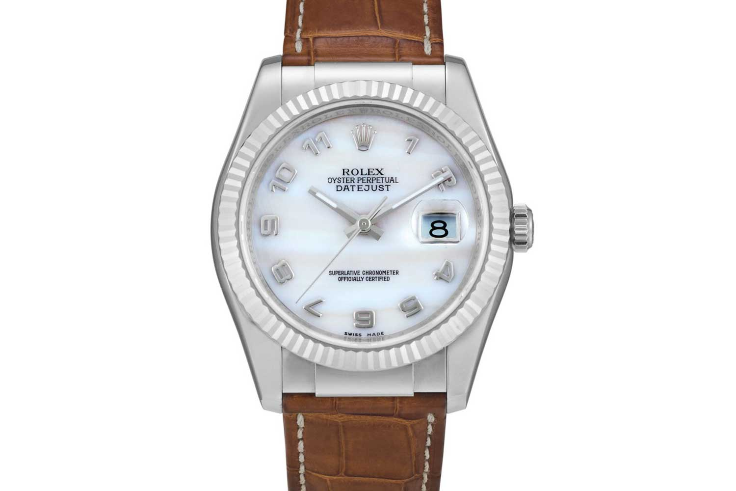 Rolex Datejust reference 116139 in white gold with hardstone dial from 2005