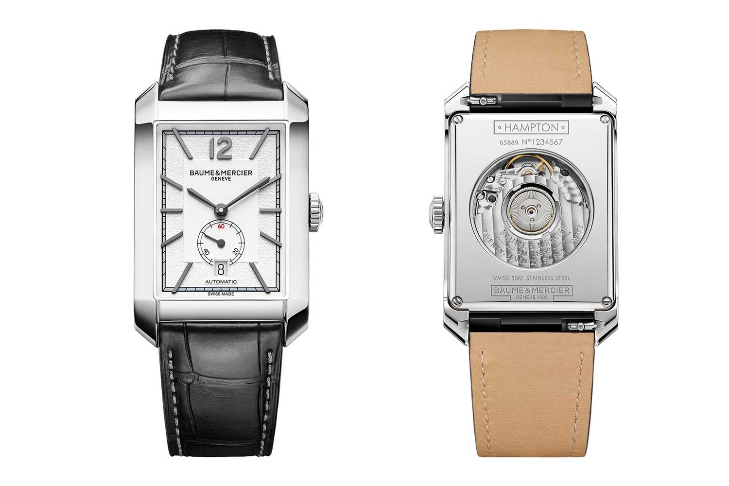 The Hampton Large Small Seconds Automatic in steel.