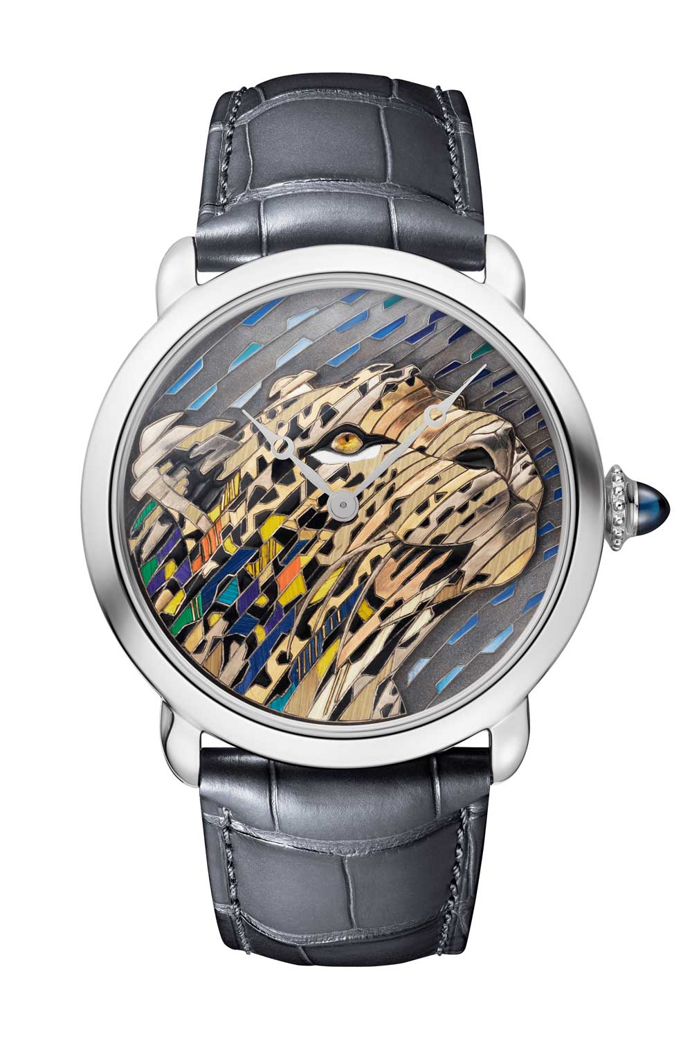 Ronde Louis Cartier Straw and Gold Marquetry