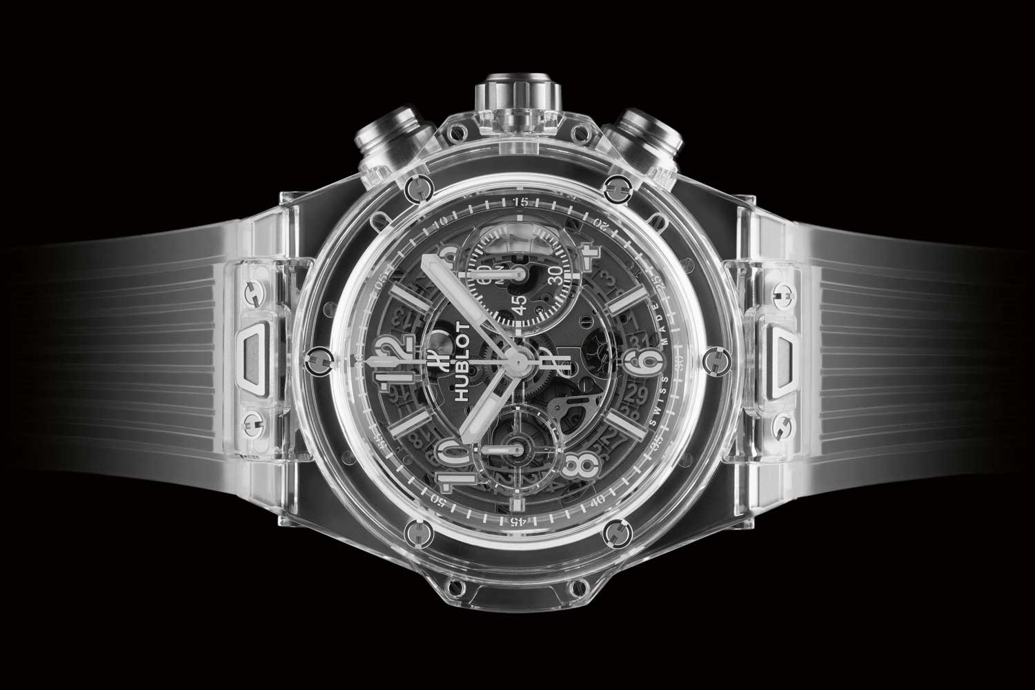 The Big Bang Unico Sapphire, the first clear watch case developed by the brand
