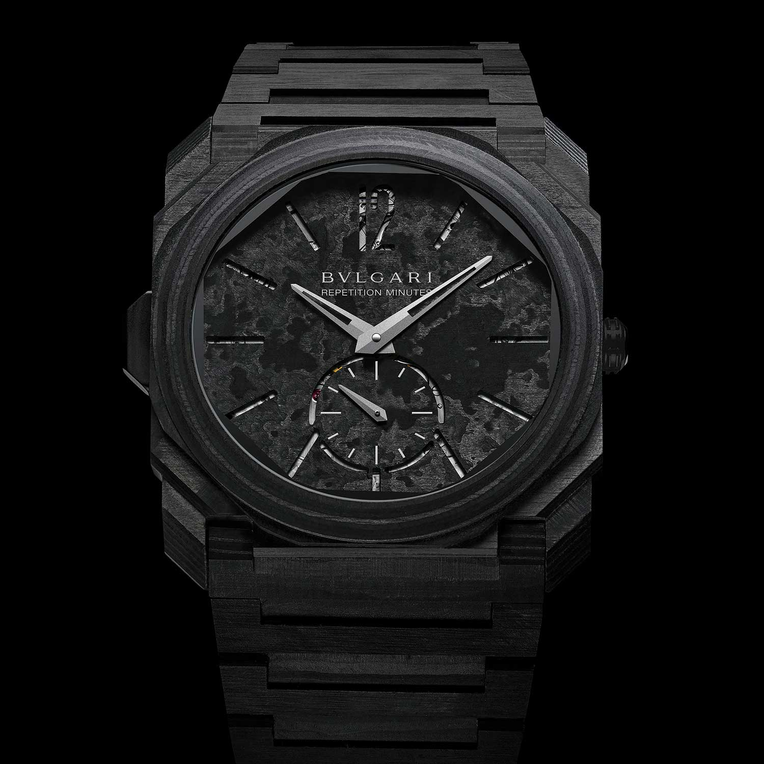 The 2018 Octo Finissimo Minute Repeater Carbon in carbon thin-ply (CTP)