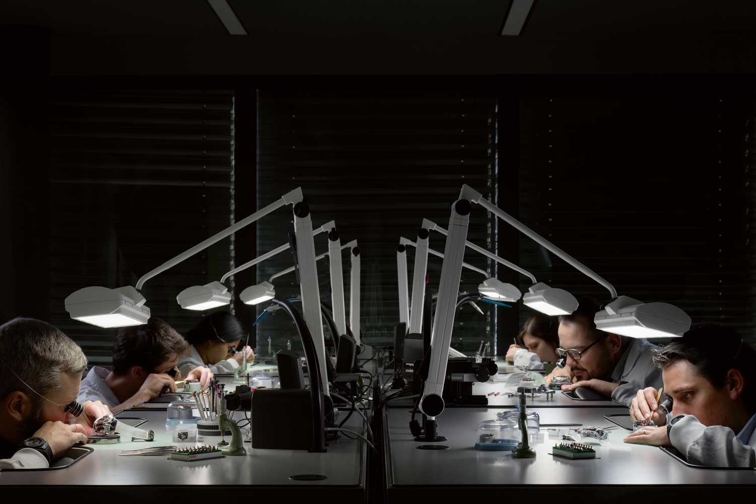 At the Hublot manufacture's complications workshop, experienced watchmakers assemble Hublot's highest watch complications.