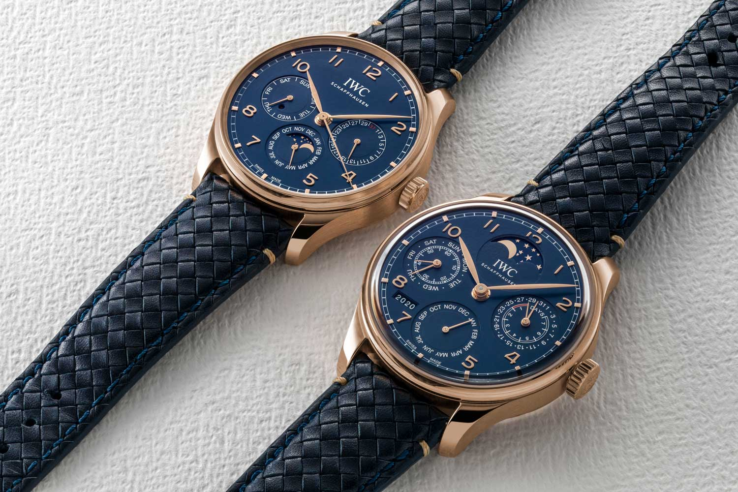 Boutique edition version of the Portugieser Perpetual Calendar 42 and Portugieser Perpetual Calendar (Image © Revolution)