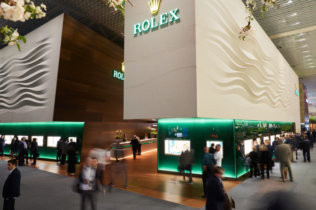 Rolex booth at Baselworld 2019