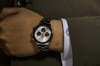 Rolex Daytona reference 6263 - A stainless steel chronograph wristwatch with UAE Quraysh Hawk dial, made for Mohammed bin Rashid al Maktoum from 1975