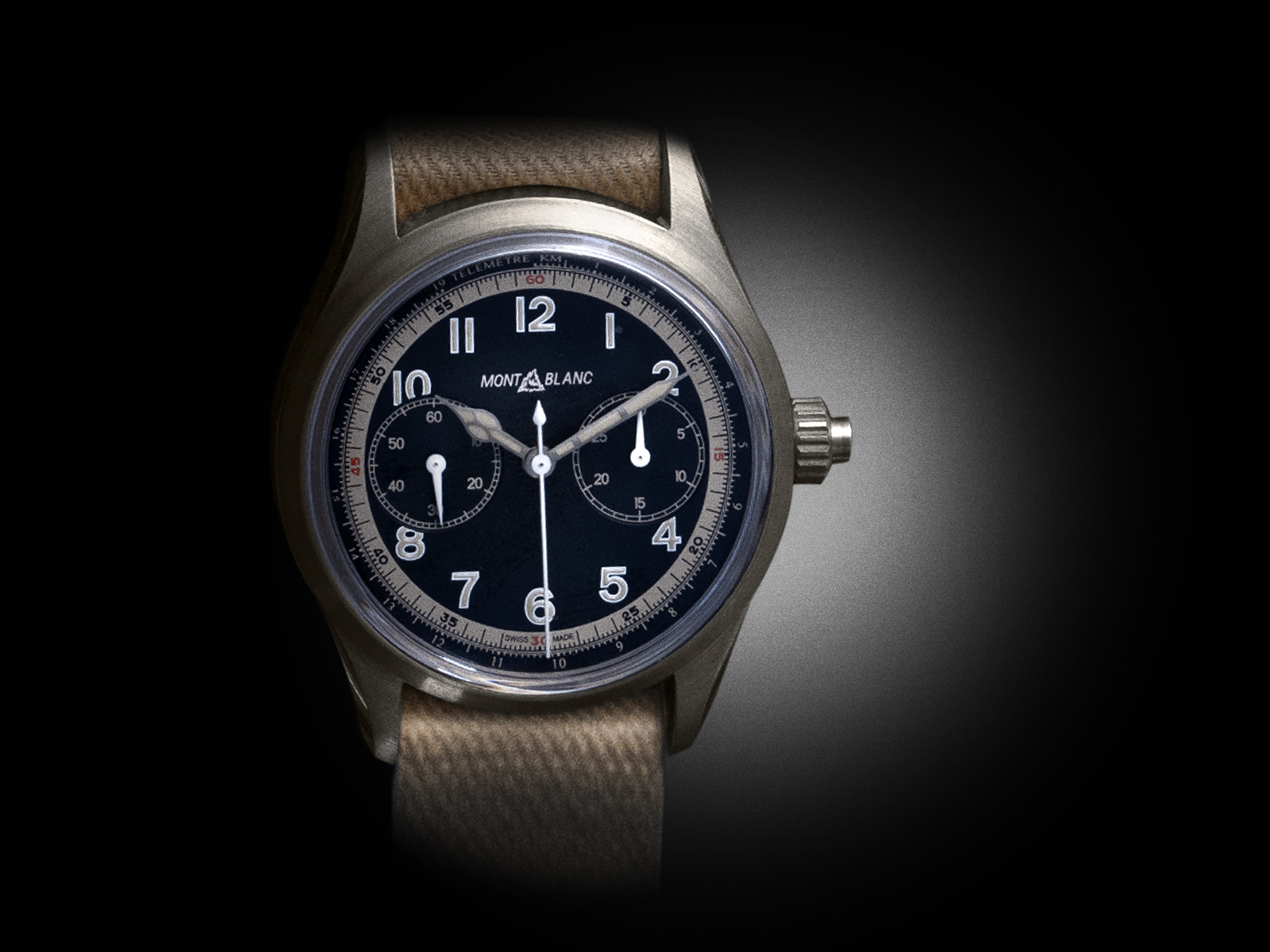 The Montblanc 1858 Monopusher Chronograph in bronze. - www.revolution.watch