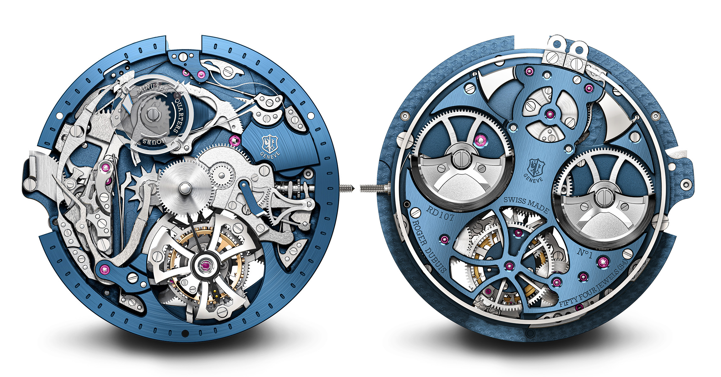 Gregory Bruttin has modernized the RD107 Roger Dubuis minute repeater for the 21st century with a visual presence. - www.revolution.watch