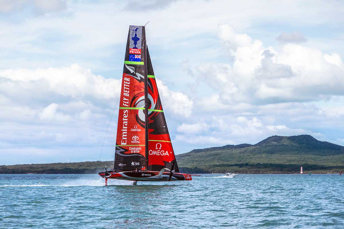 Emirates Team New Zealand, defending champions of the 2017 America's Cup, supported by Omega as their timing partner.