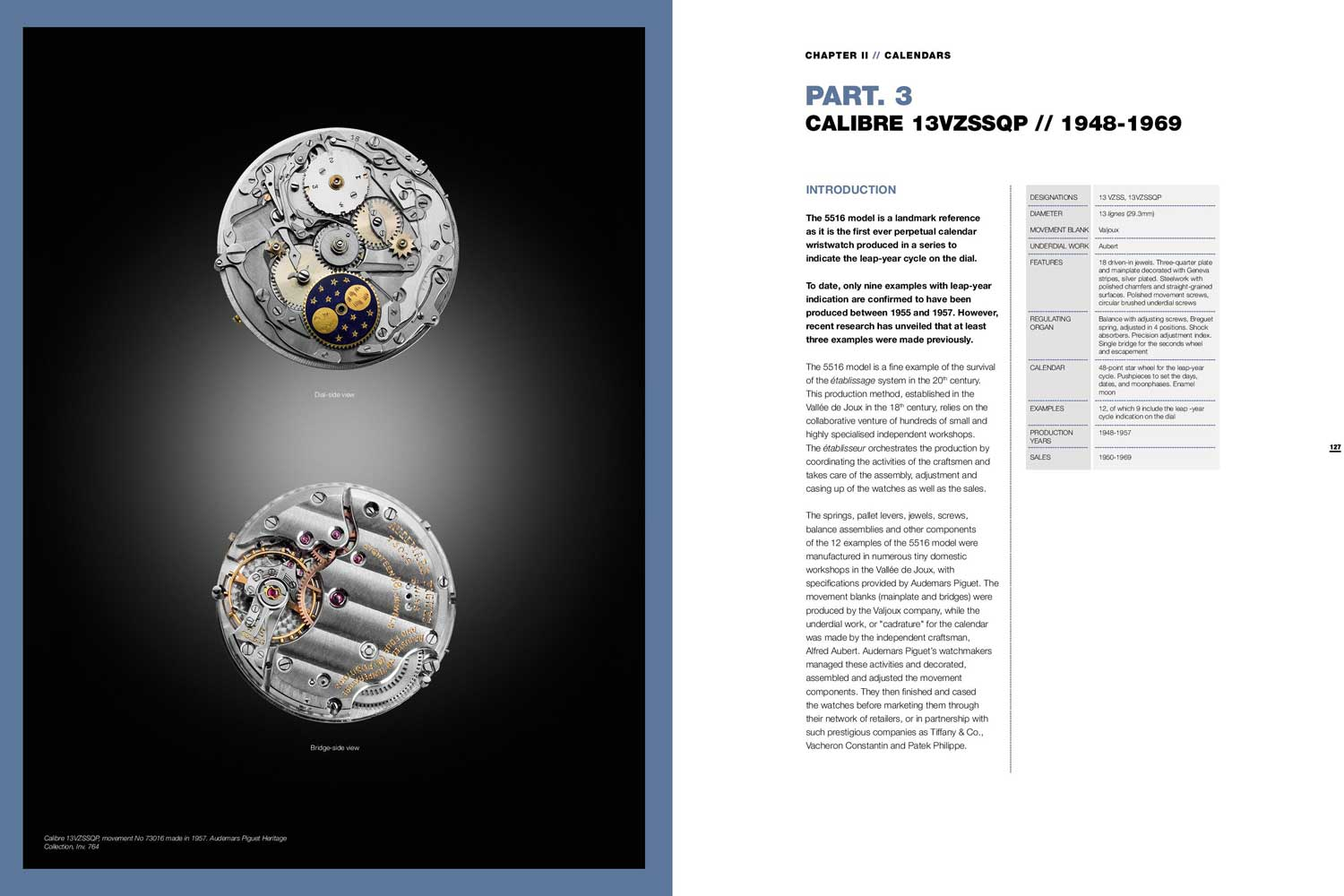 Pages from the Audemars Piguet 20th Century Complicated Wristwatches, collective work by Audemars Piguet