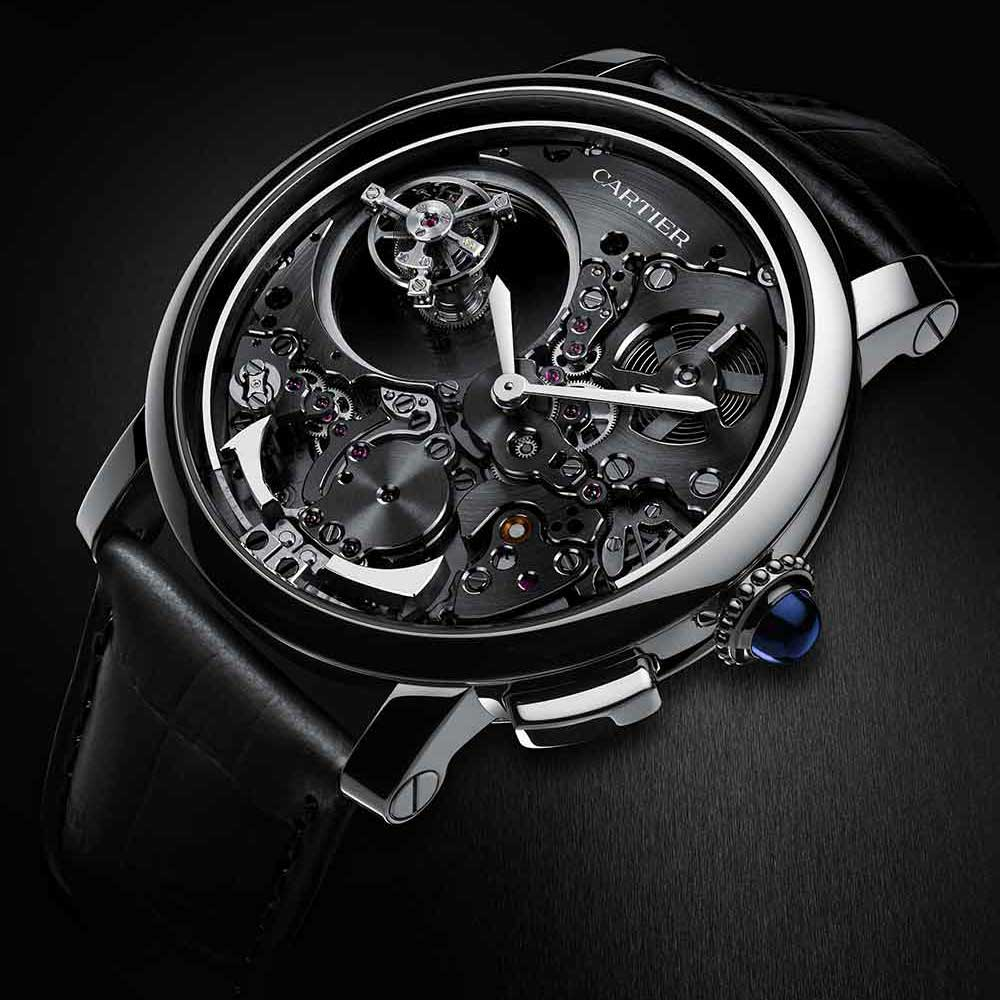The Mysterious Double Tourbillon is one of the most spectacular movement designs by Cartier's Fine Watchmaking Club.
