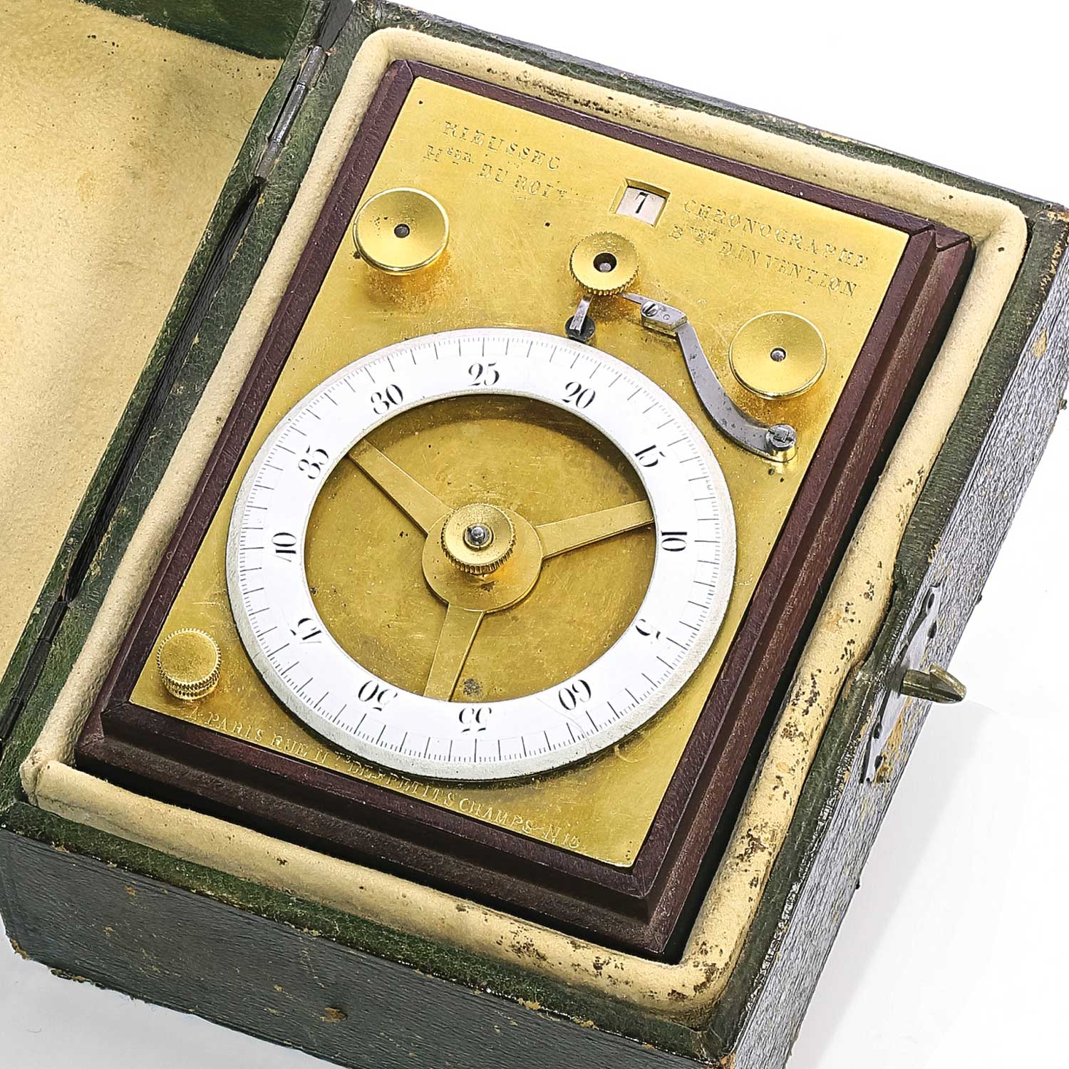 The historically important cylinder inking chronograph made by Nicolas Mathieu Rieussec for the horse races, circa 1823 (Image: sothebys.com)