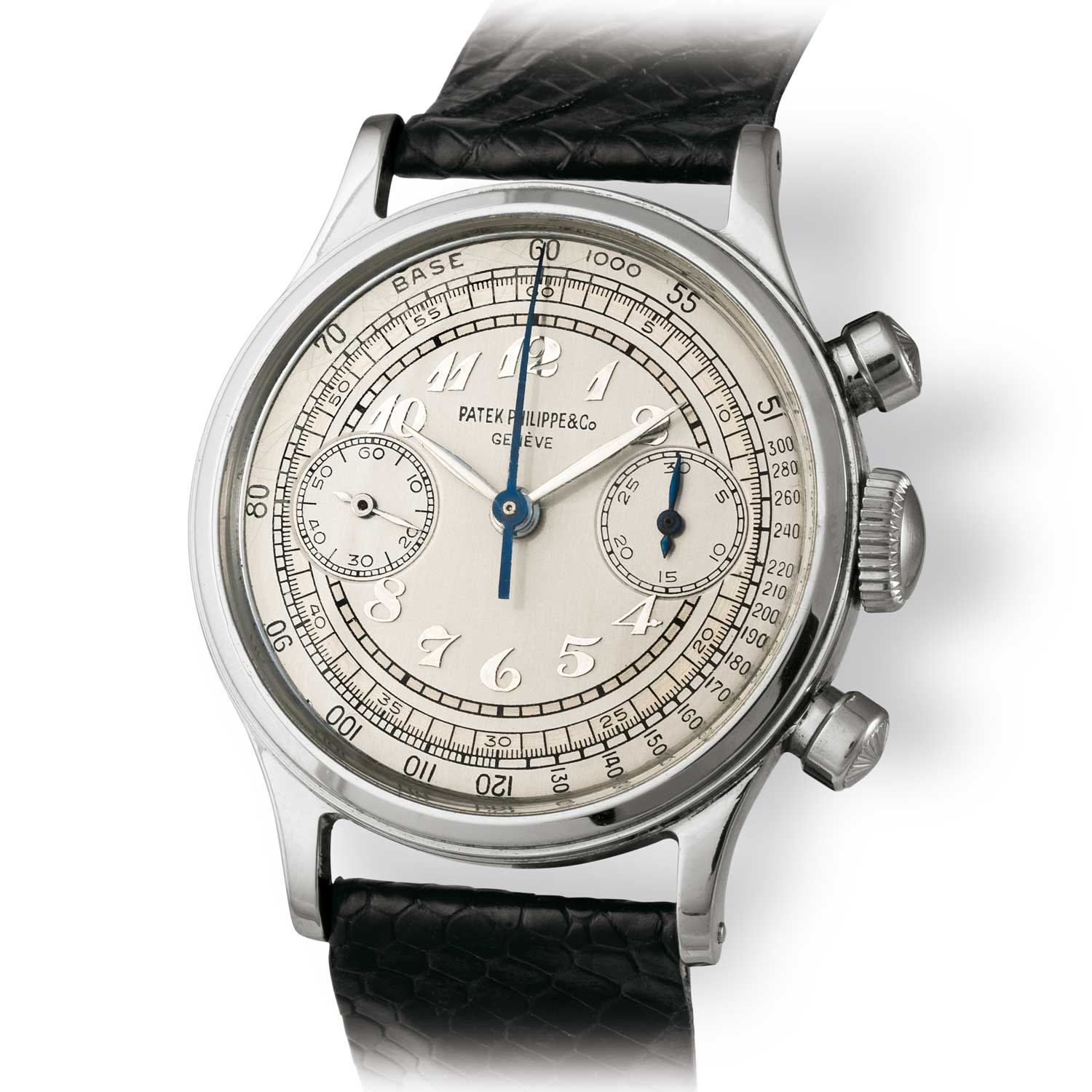 Patek Philippe ref. 1463 steel chronograph with Breguet numerals (Image: John Goldberger)