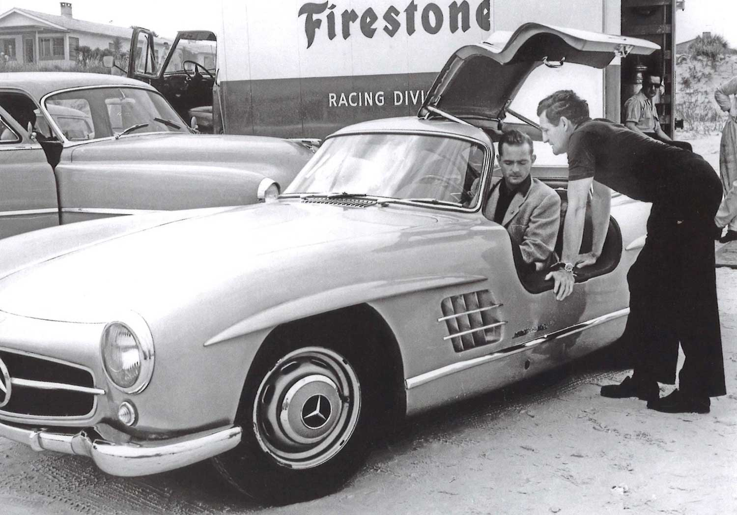 Briggs Swift Cunningham was the was the first owner of a Mercedes-Benz 300 SL Gullwing in the US, few years ago the car was sold at a Pebble beach auction for a record price; again you can see the black dial 1463 on his wrist here (Image Courtesy of John Goldberger)
