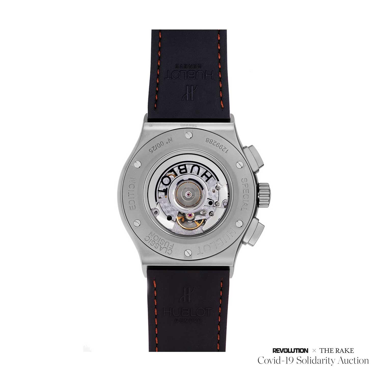 "Factory Prototype Hublot Aerofusion Chronograph ""Molon Labe"" titanium and bronze limited edition for The Rake"