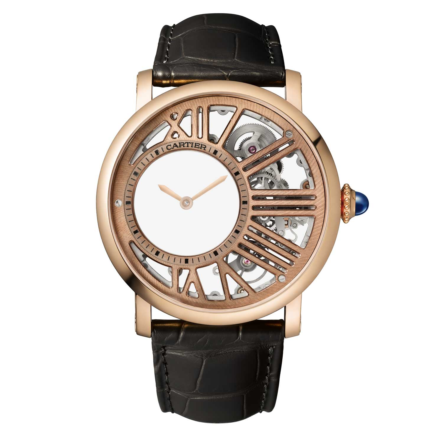 The Rotonde de Cartier Mysterious Hour Skeleton
