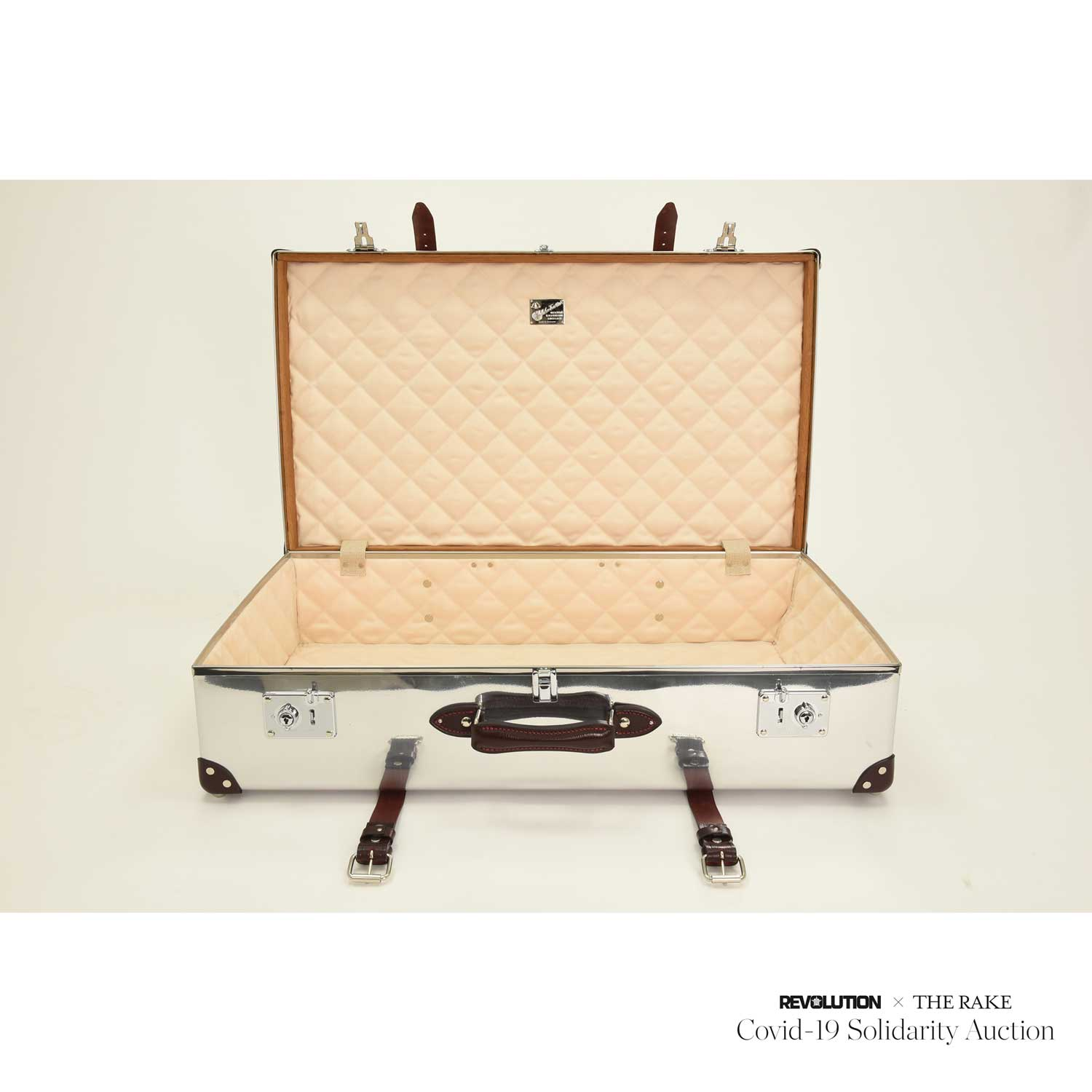 Globe-Trotter Aluminium Travel Case for Revolution x The Rake Covid-19 Solidarity Auction