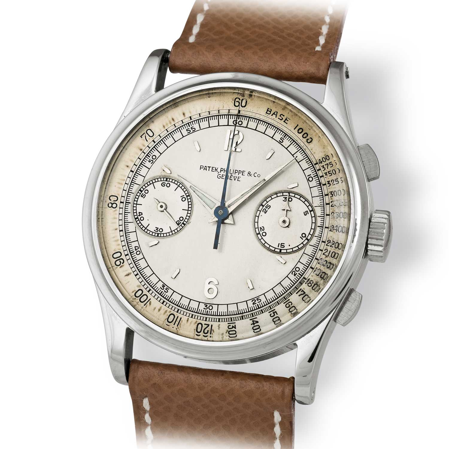 Patek Philippe ref. 530 steel chronograph with Arabic numerals (Image: John Goldberger)
