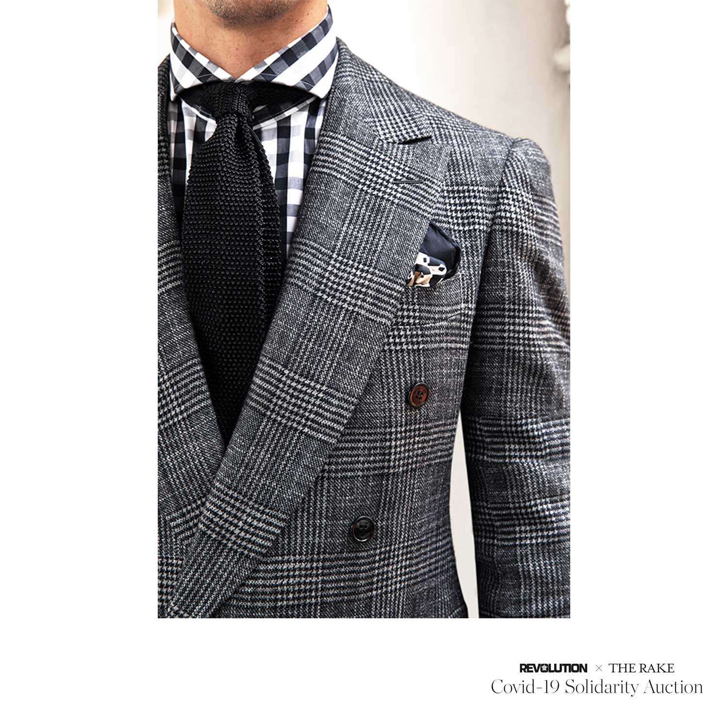Bespoke Suit for Revolution x The Rake Covid-19 Solidarity Auction
