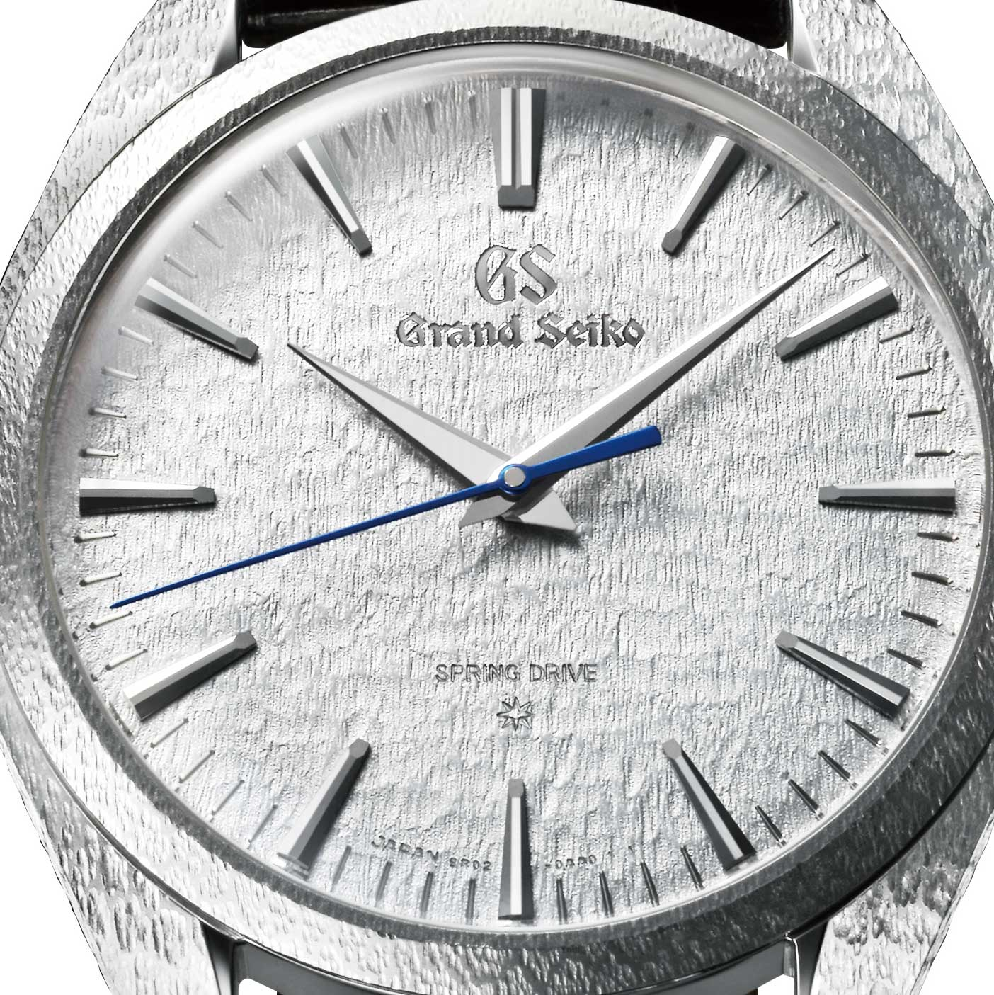 Closer look at the dial of the 2019 Grand Seiko 20th Anniversary Of Spring Drive, in platinum - limited to 30 pieces - ref. SBGZ001 (Image: Grand Seiko)