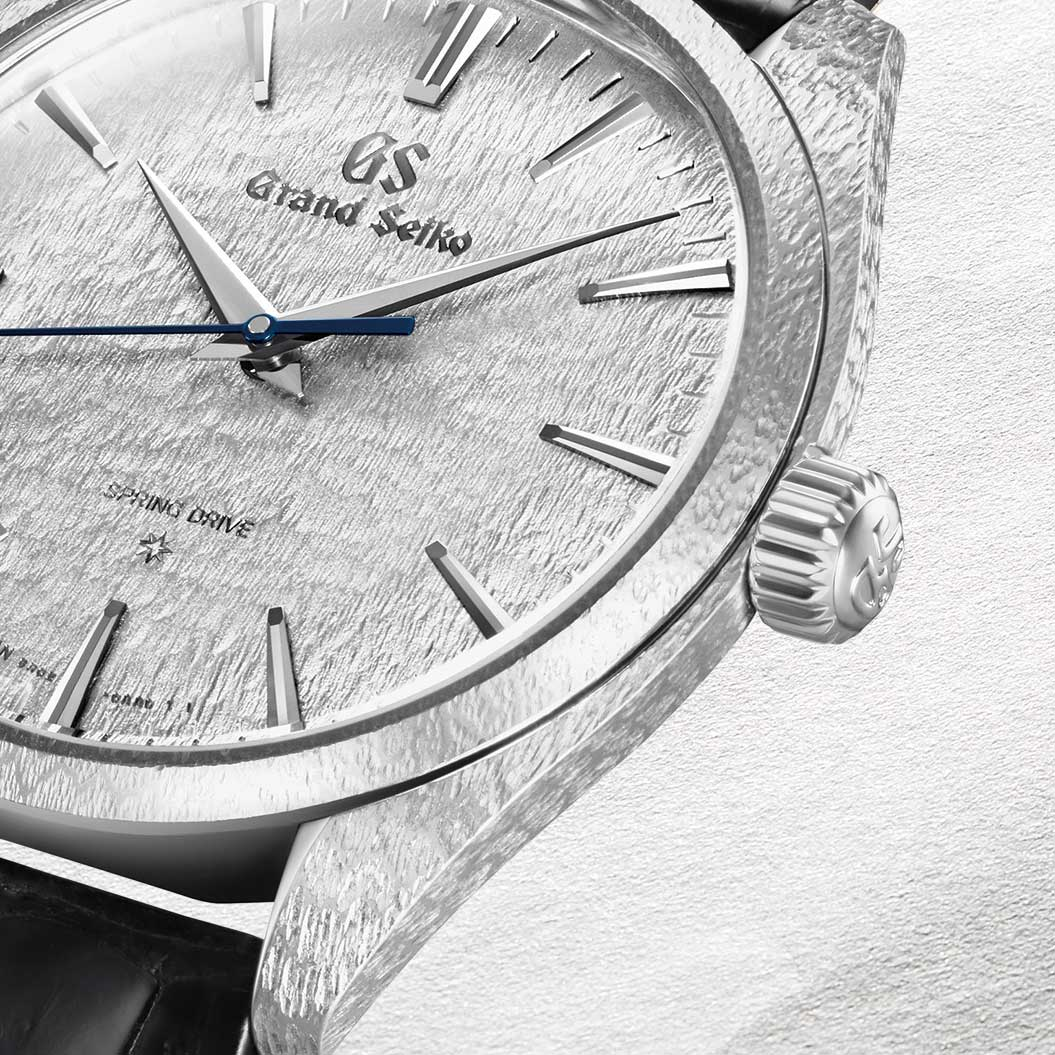 Closer look at the case side of the 2019 Grand Seiko 20th Anniversary Of Spring Drive, in platinum - limited to 30 pieces - ref. SBGZ001 (Image: Grand Seiko)