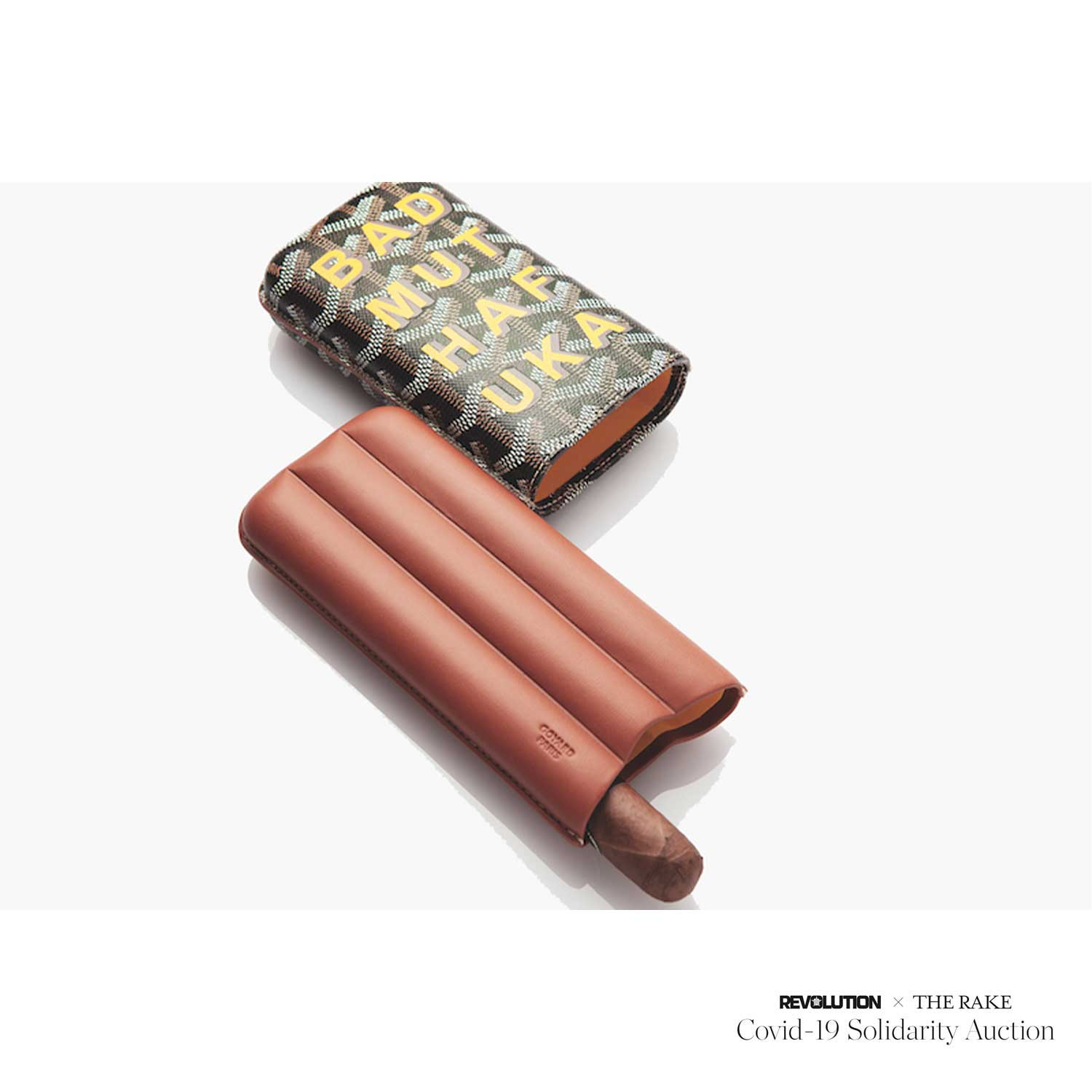 A Goyard three cigar case