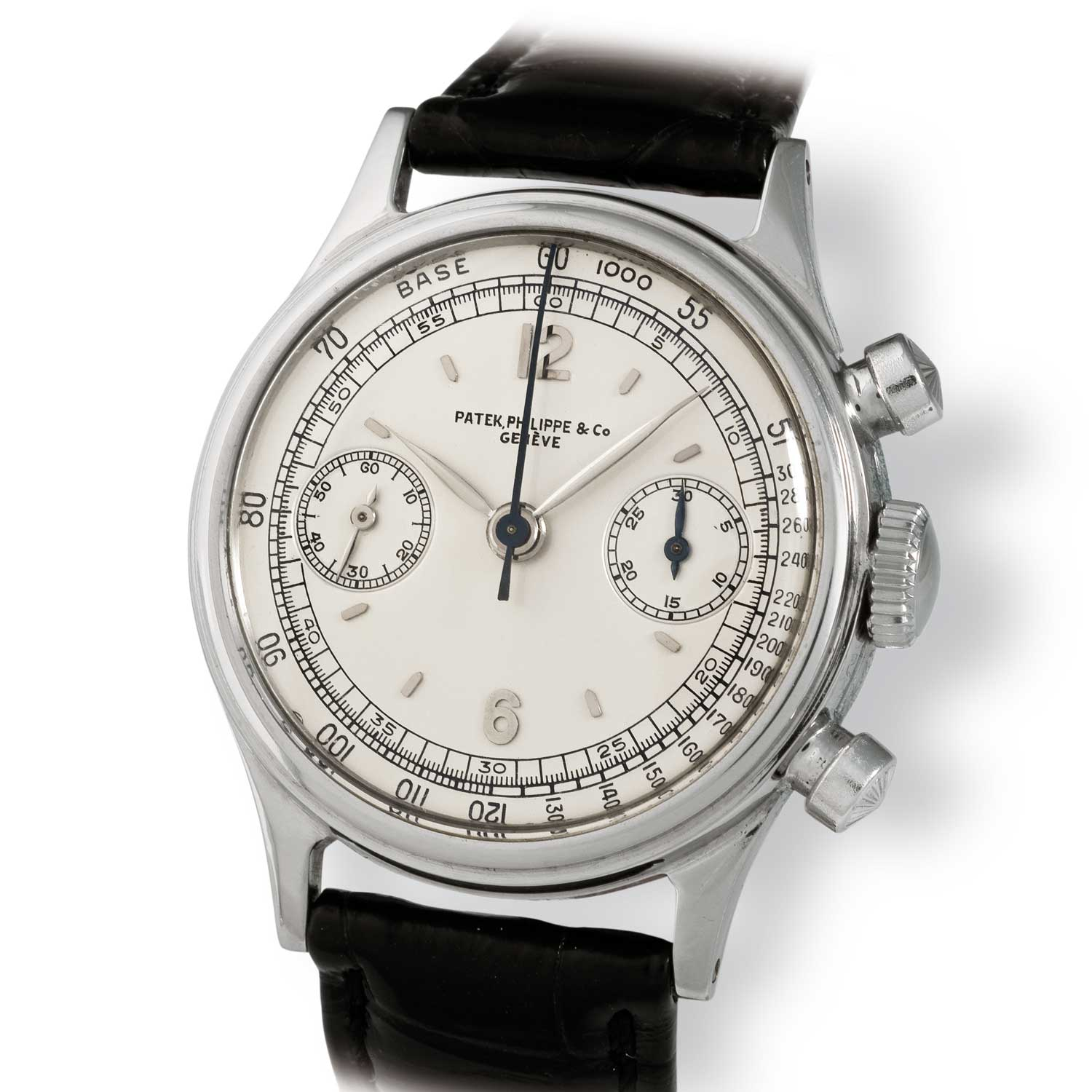 Patek Philippe ref. 1463 steel chronograph with Arabic numerals (Image: John Goldberger)