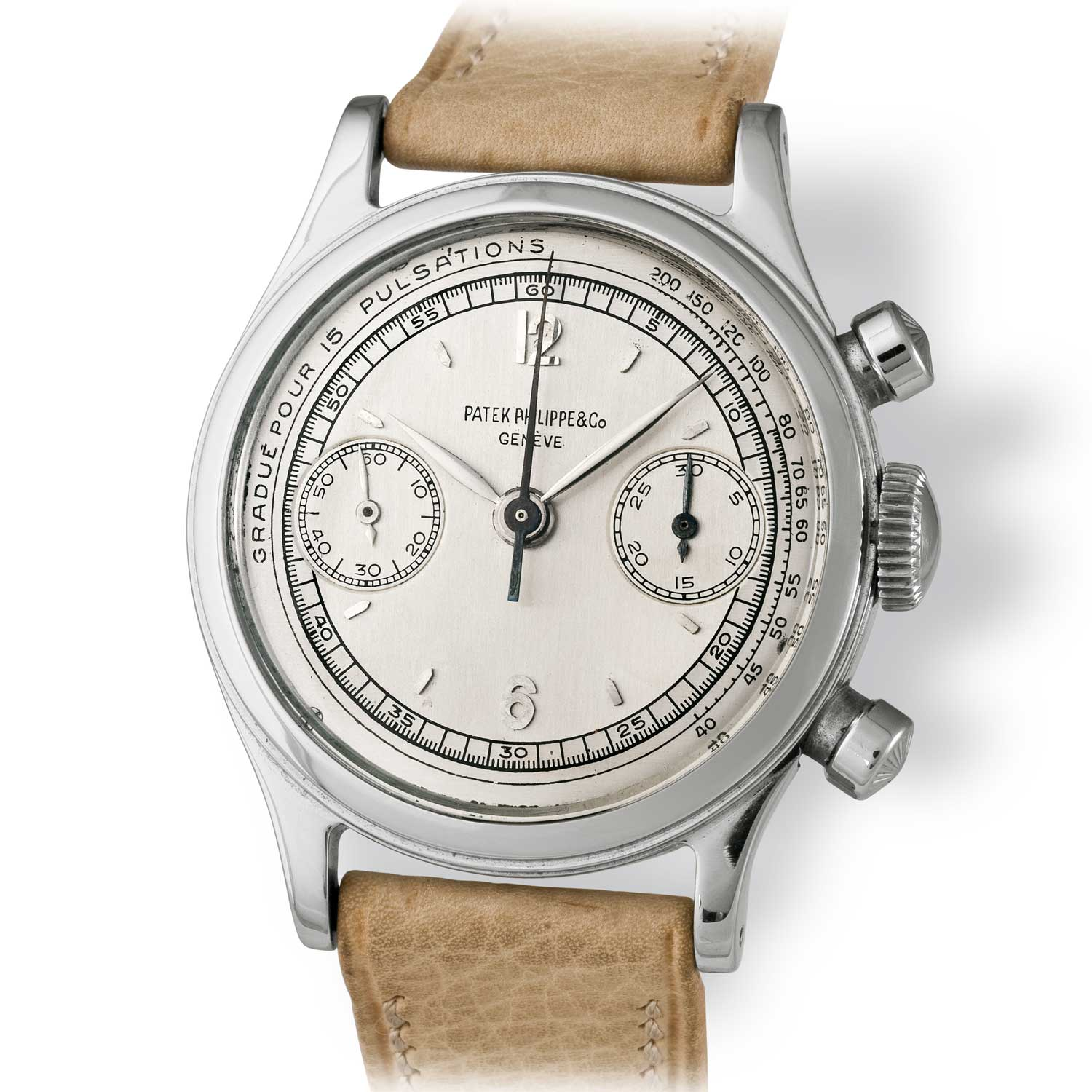 Patek Philippe ref. 1463 steel chronograph with Roman numerals (Image: John Goldberger)