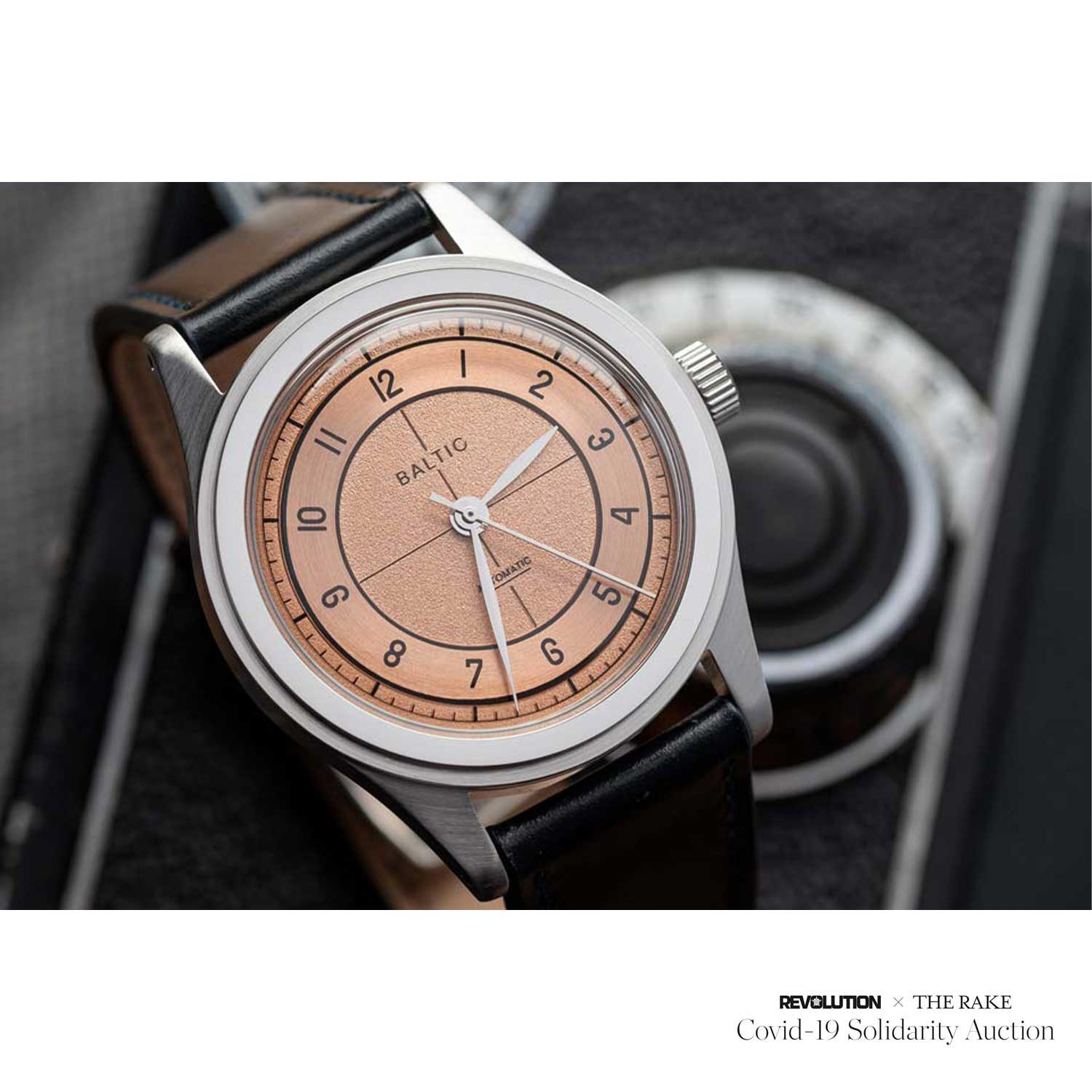 Personal Baltic x Worn & Wound Limited Edition with Salmon Sector Dial donated by @hands.faces.cases for Revolution x The Rake Covid-19 Solidarity Auction