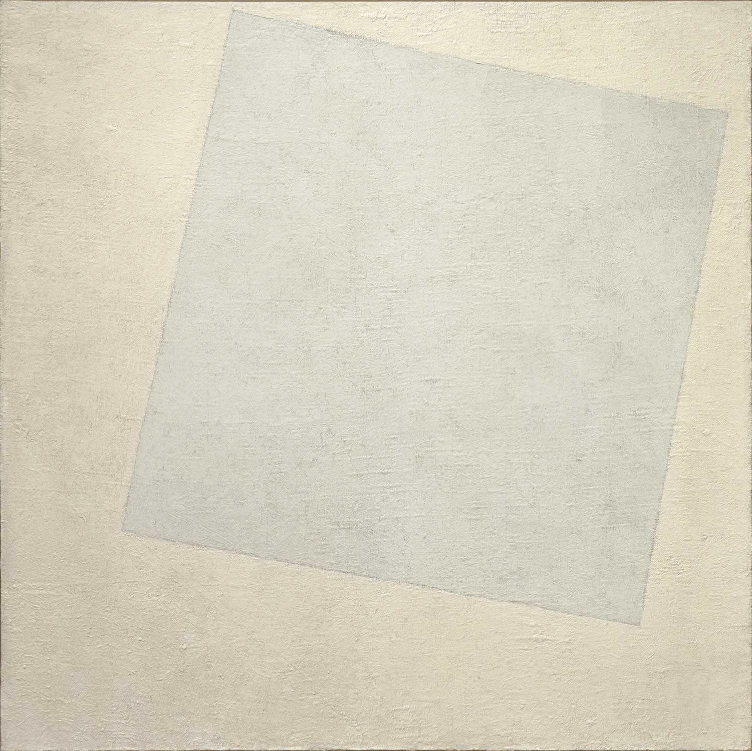 Kazimir Malevich Suprematist Composition: White on White 1918 (Image: moma.org)