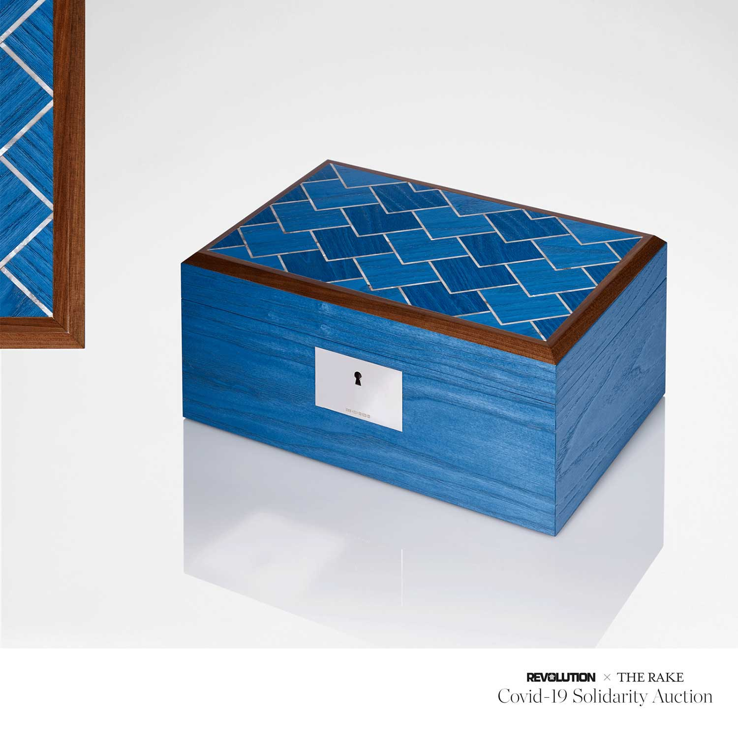 Linley Azure Vermillion Jewellery Box for Revolution x The Rake Covid-19 Solidarity Auction