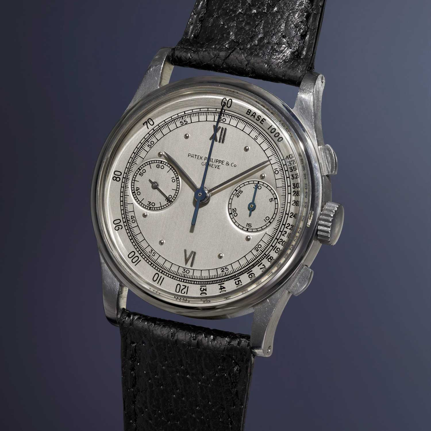 A 1942 Patek Philippe ref. 530 steel chronograph sold at Phillips Watches' Start-Stop-Reset for CHF821,000 (Image: phillipswatches.com)