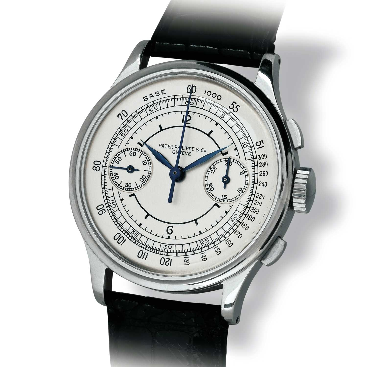 Patek Philippe ref. 530 steel chronograph with sector dial (Image: John Goldberger)