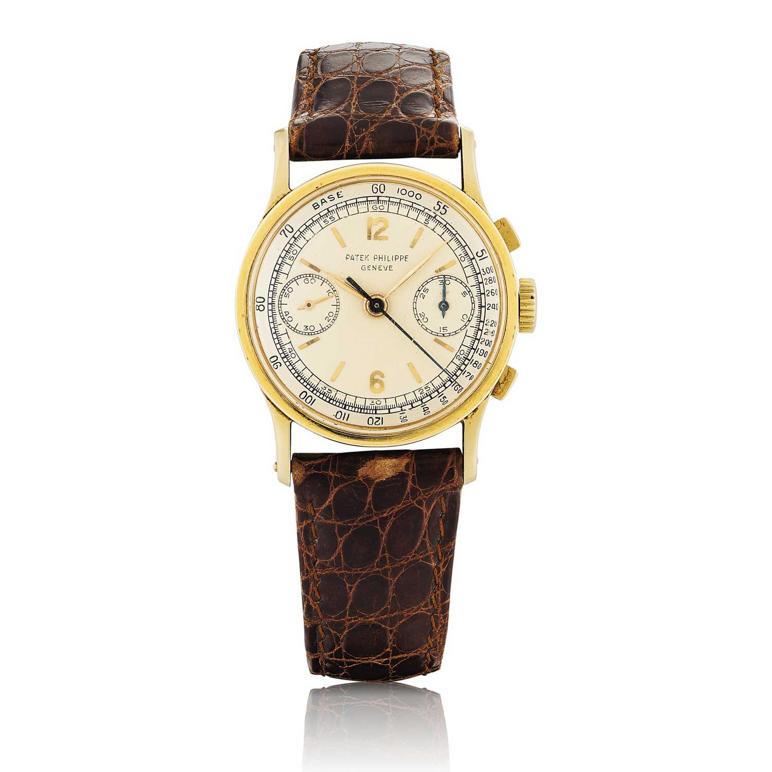 1952 Patek Philippe ref. 533 yellow gold chronograph with Arabic numerals (Image: Sothebys.com)