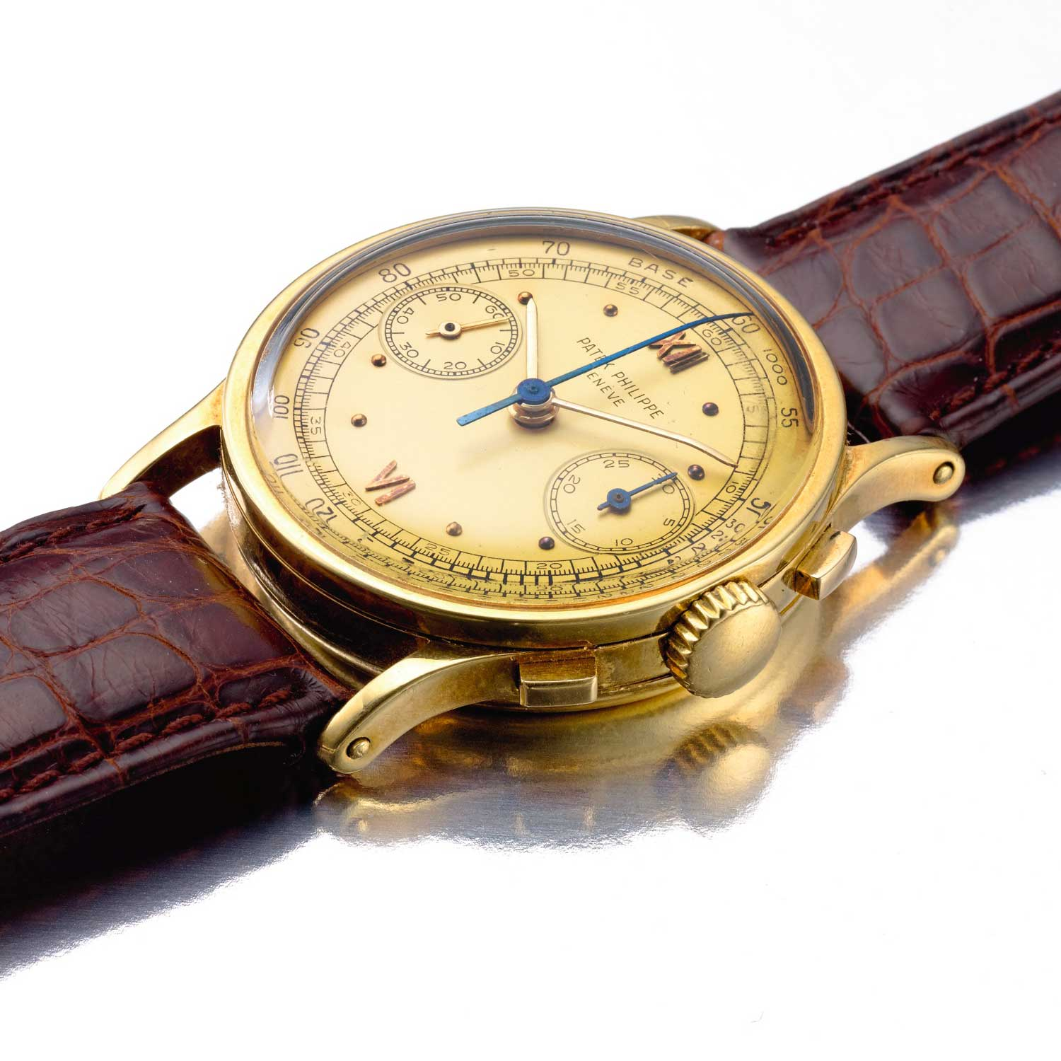 1951 Patek Philippe ref. 533 yellow gold chronograph with gold dial and Roman numerals (Image: Sothebys.com)