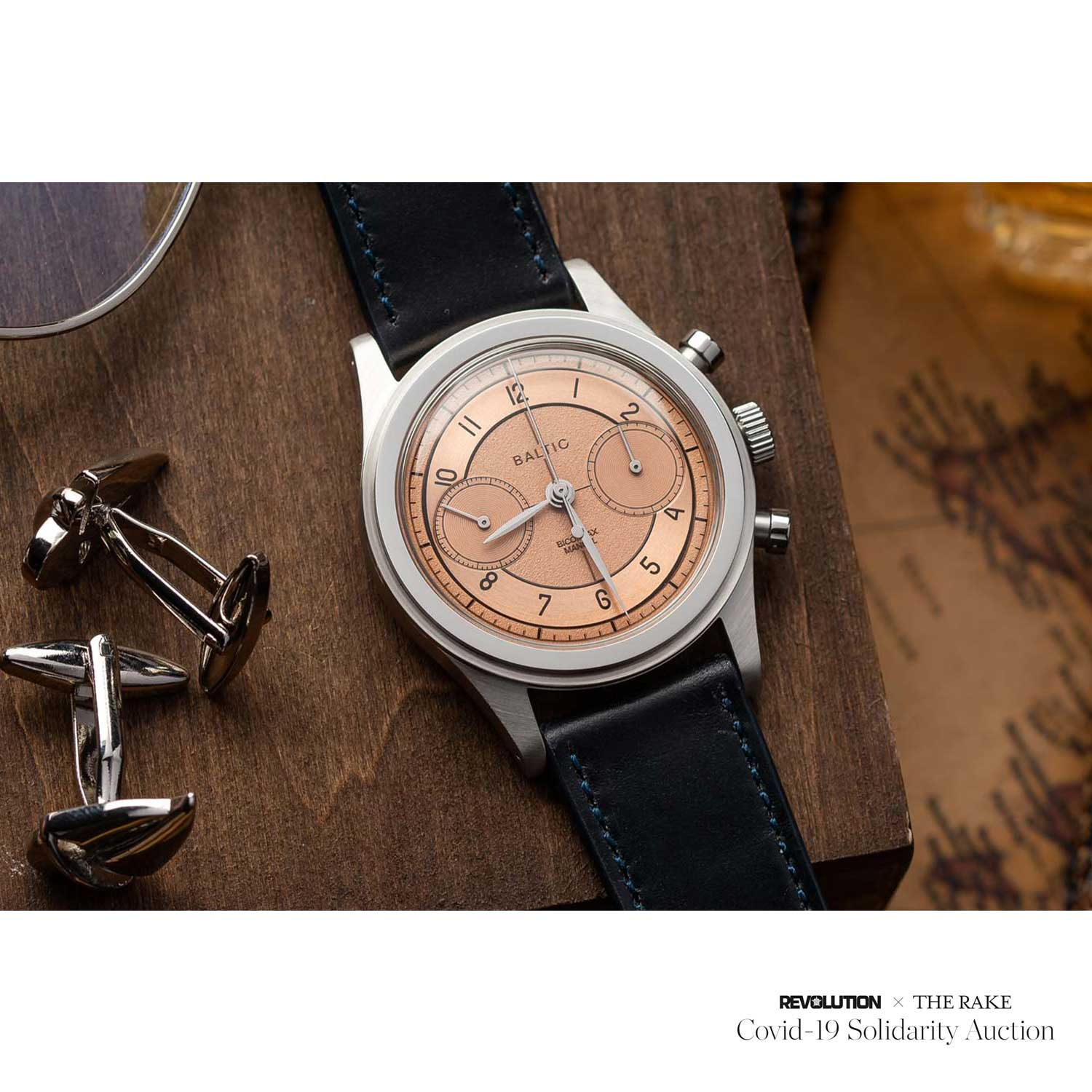Baltic x Worn & Wound Limited-Edition Bi-Compax Chronograph donated by Richard Lee for Revolution x The Rake Covid-19 Solidarity Auction