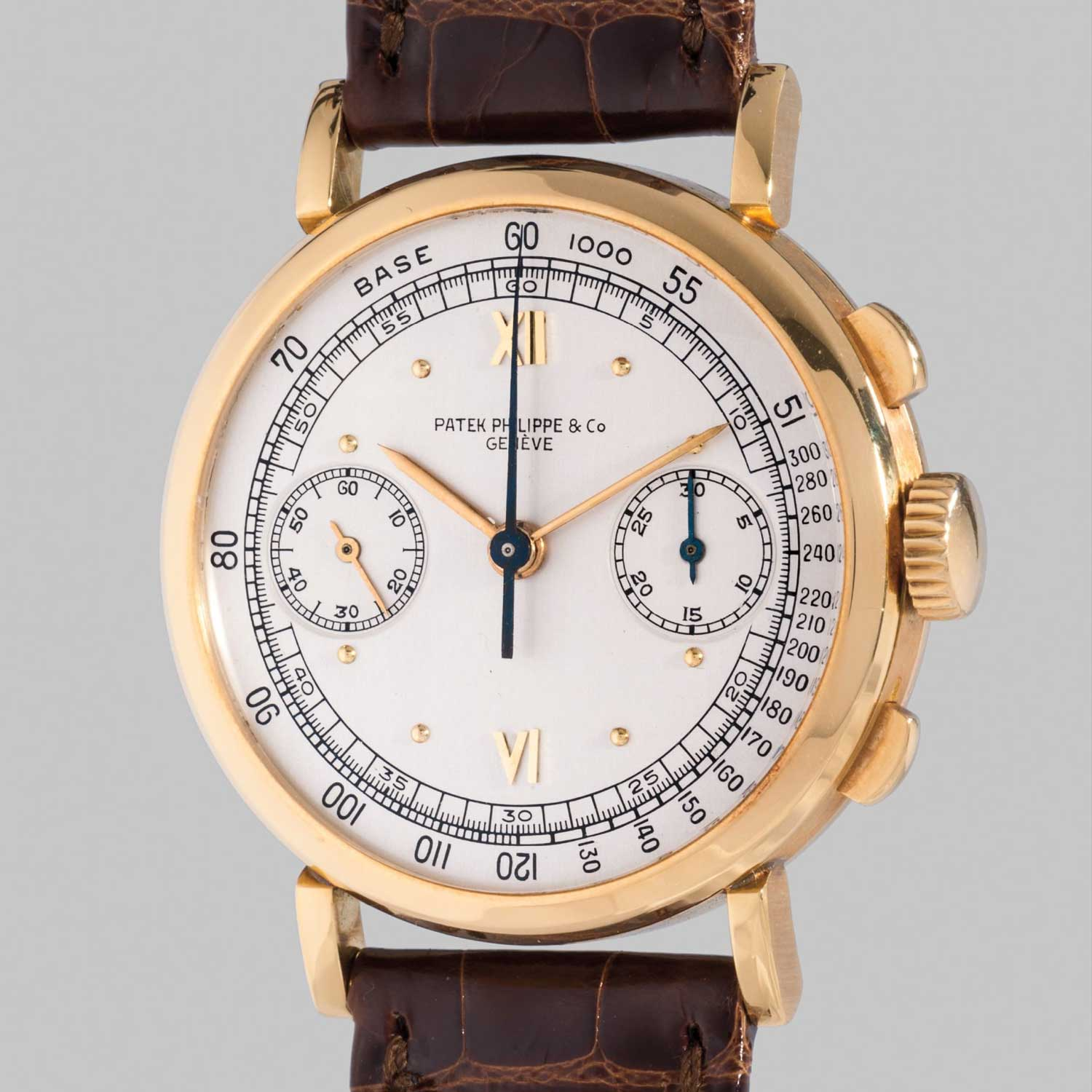 1940 Patek Philippe ref. 591 yellow gold chronograph with Roman numerals (Image: PhillipsWatches.com)