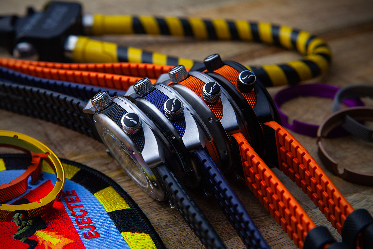 Bremont's new 'Chalgrove' watch strap selection for the updated 2020 MBII