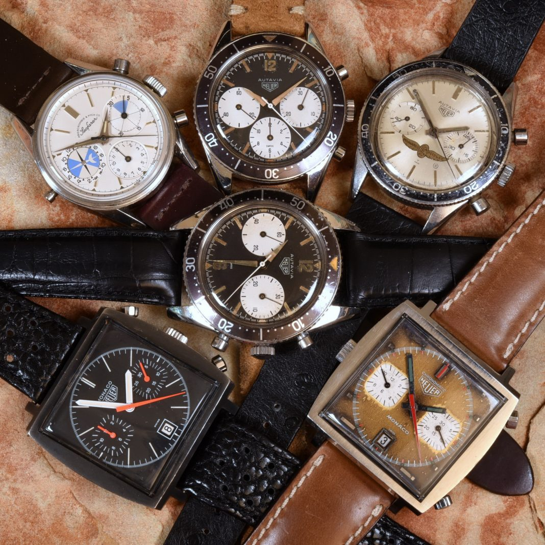 Grail vintage Heuer watches (Image: onthedash.com)