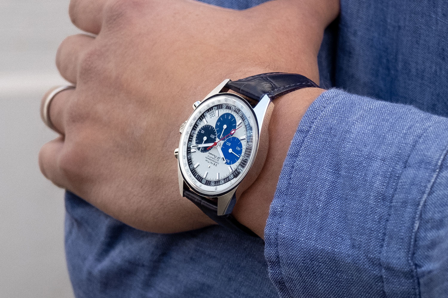Zenith Chronomaster Revival Manufacture Edition on the wrist