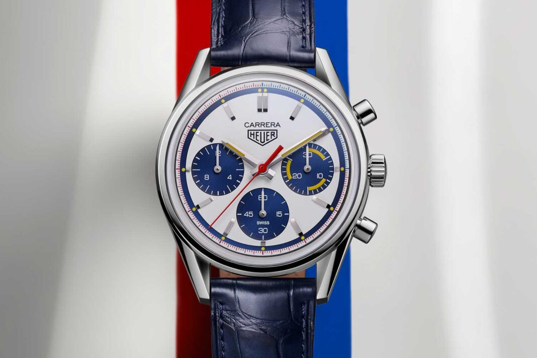 TAG Heuer Carrera 160th Montreal Edition inspired by the 1972 White Heuer Montreal, reference 110.503W