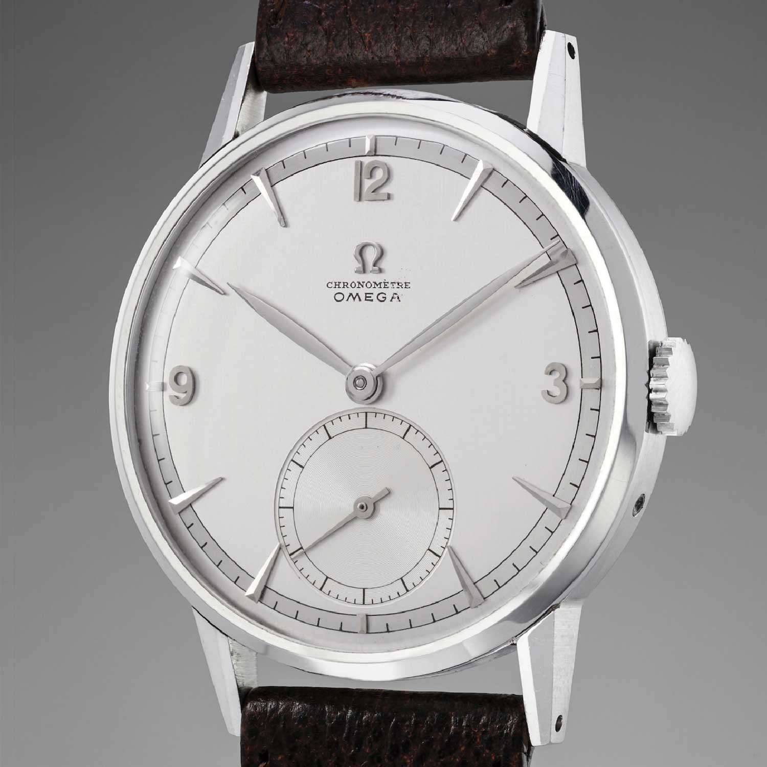 The prototype tourbillon wristwatch Omega produced in 1947 that was sold at Phillips Auction for CHF1,428,500 in 2017 (Image: Phillips.com)