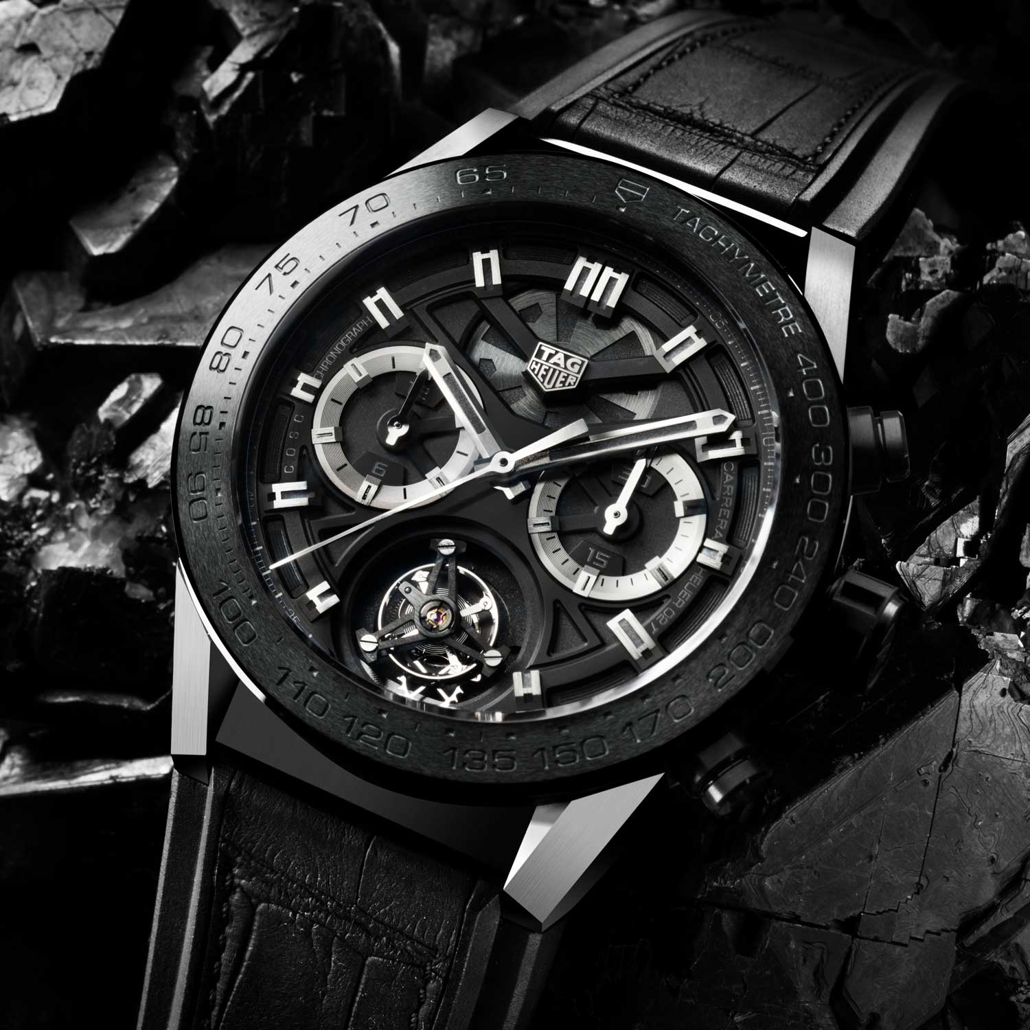 The 2016 launch version of the Heuer 02T in grade 5 titanium (45mm) priced under 15,000 CHF