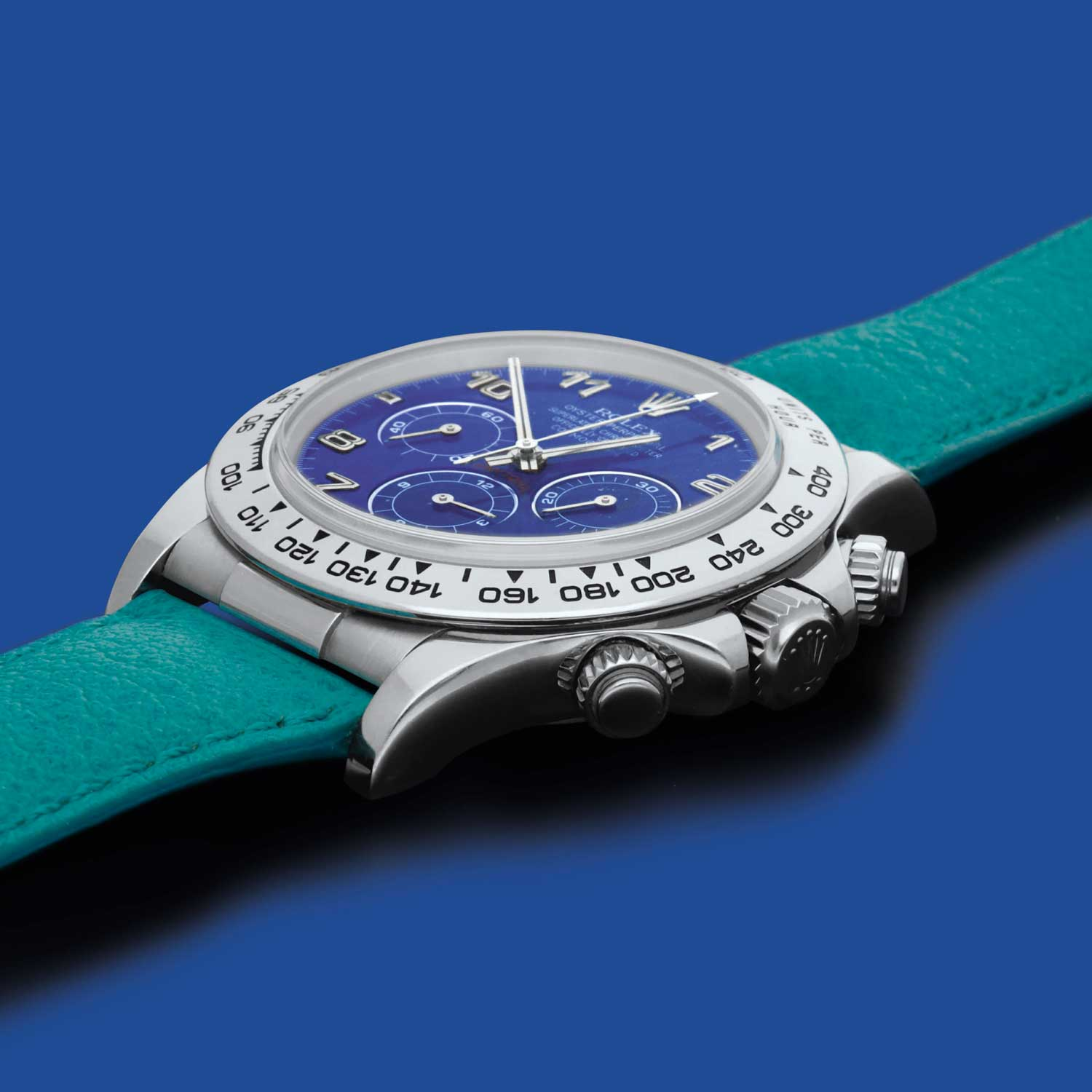 Unique platinum Perpetual Daytona ref. 16516 with lapis lazuli dial at Sotheby's