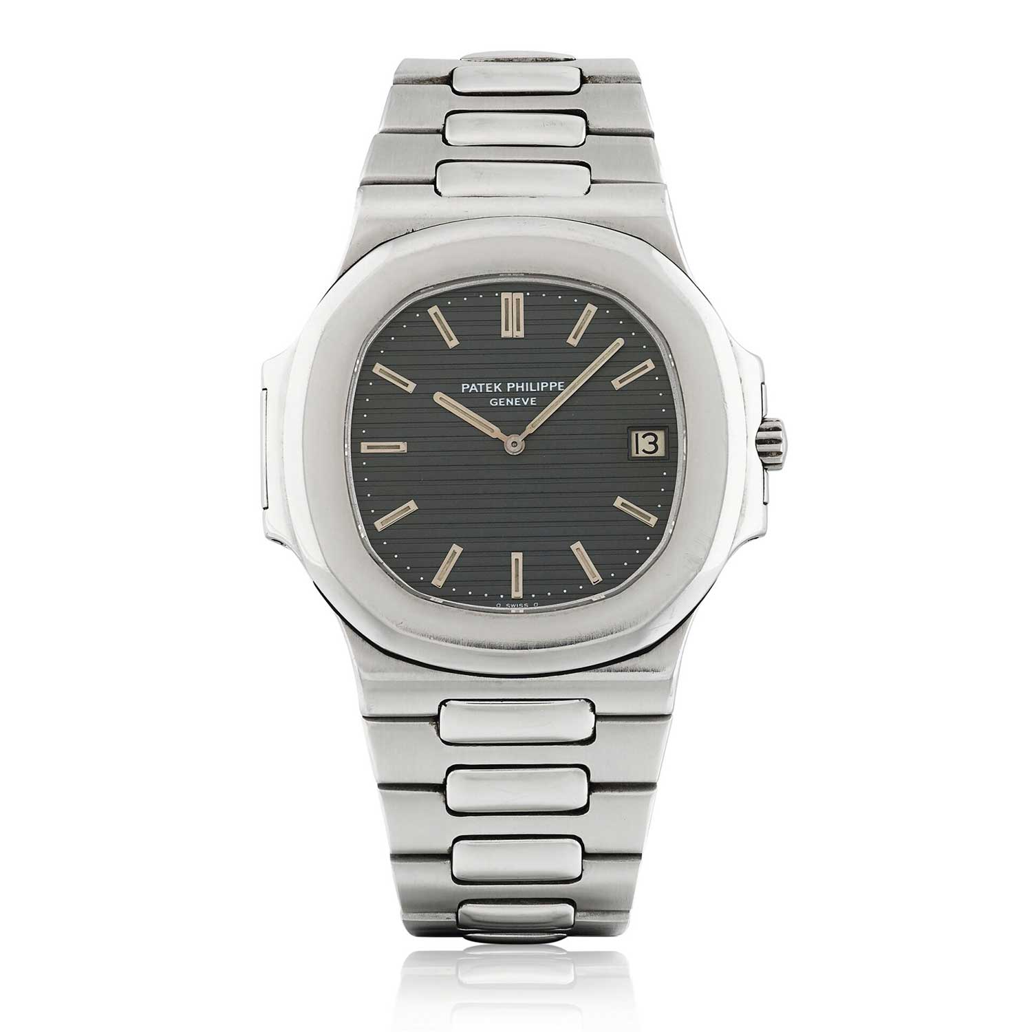 Another design of Gerald Genta's, the 40mm Patek Philippe stainless steel Nautilus ref. 3700/001 was introduced in 1977 (Image: sothebys.com)