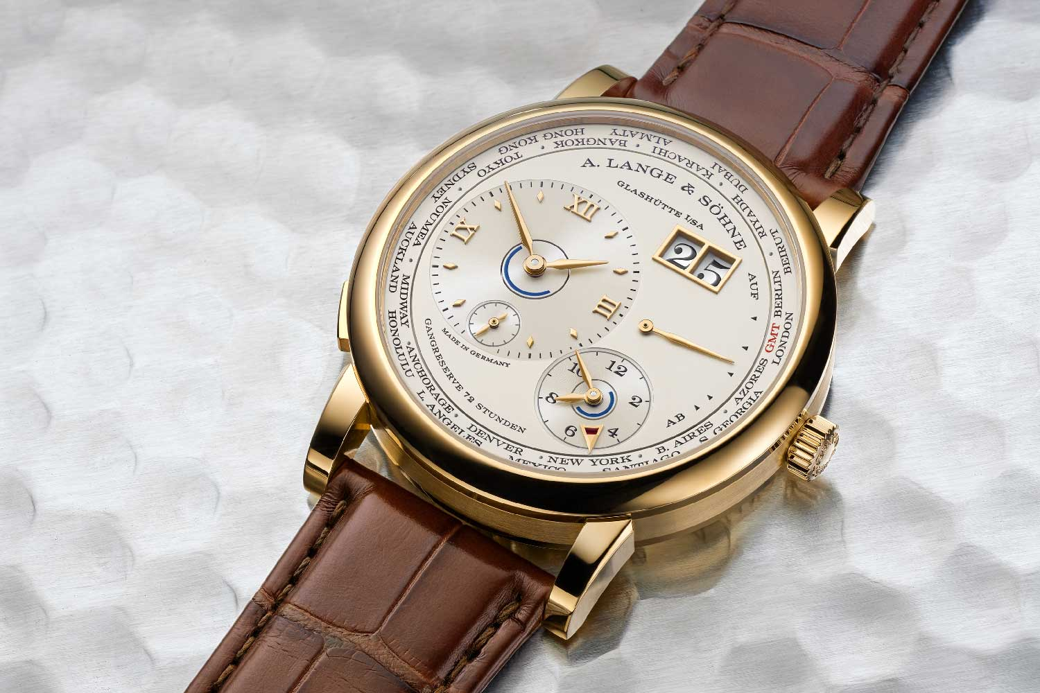 The new Lange 1 Time Zone in yellow gold