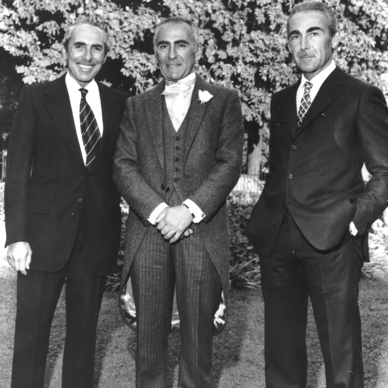 (L-R) Brothers Claude, Pierre and Jacques Arpels